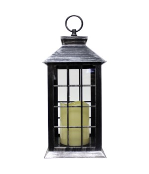Indoor/Outdoor LED Lantern-Silver