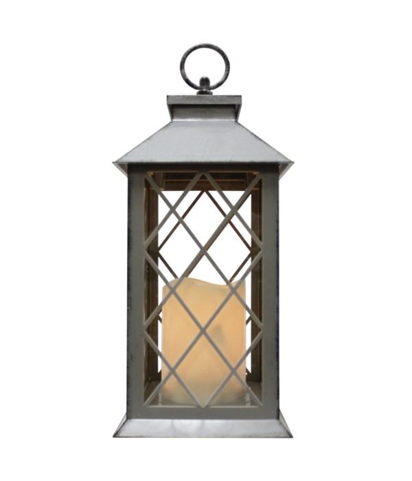 Indoor/Outdoor LED Lantern-Grey