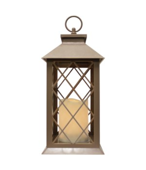 Indoor/Outdoor LED Lantern-Tan