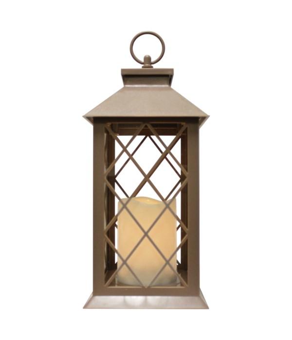 Indoor/Outdoor LED Lantern-Tan