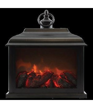 Black Traditional Fireplace Lantern