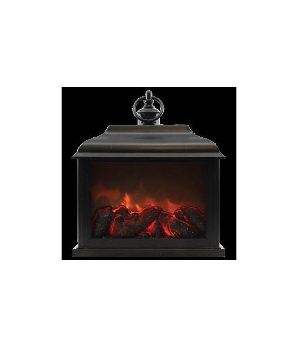 Black Traditional Fireplace Lantern