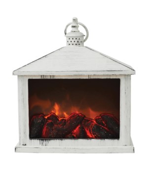 White Traditional Fireplace Lantern
