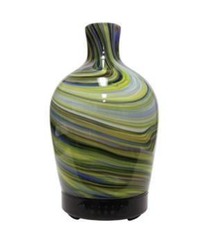 Ultrasonic Oil Diffuser - Artesian Glass Seaglass Vase