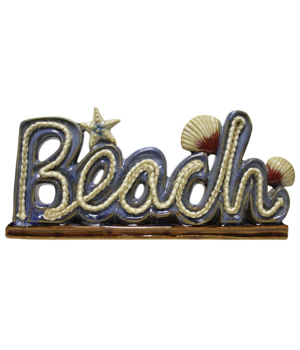 Beach Sign With Natutical Rope