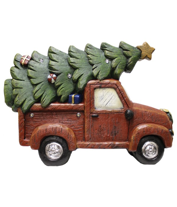 Christmas Truck with Tree & LED Lights
