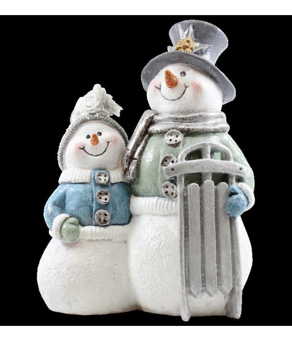 Crystal Willie With Snowkid And Sled
