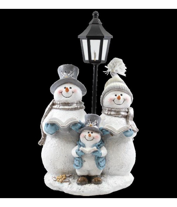 Crystal Willie Caroling At Lamppost with LED Light