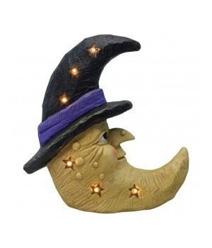 Witch Moon with LED Lights