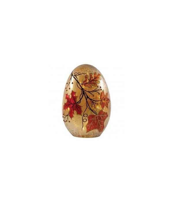 Autumn Leaves Egg with LED String Lights