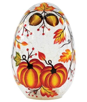 Pumpkins And Acorns Egg with LED String Lights