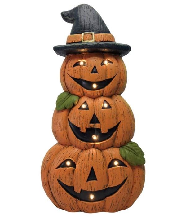 Pumpkin Stack with LED Lights