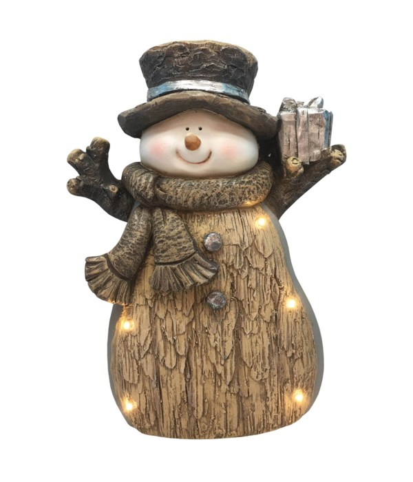Woodland Snowman with LED Lights
