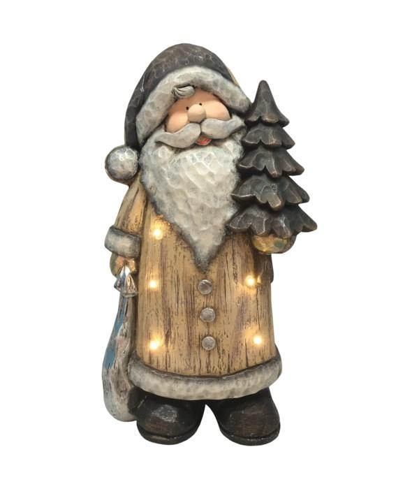 Rustic Santa with LED Lights