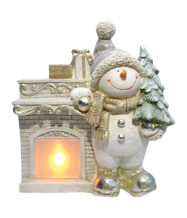 Fireplace Willie with Realistic LED Fire