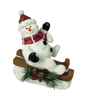 Sledding Willie With Knit Cap
