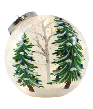 Christmas Trees Ornament with LED String Lights