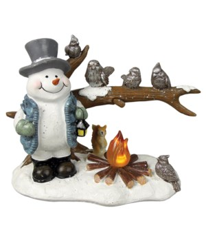Crystal Willie's Woodland Friends with LED Campfire Light