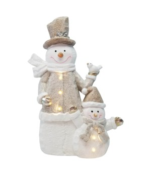Crystal Snowmen with LED Lights