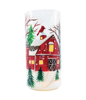 Winter Barn Pillar
