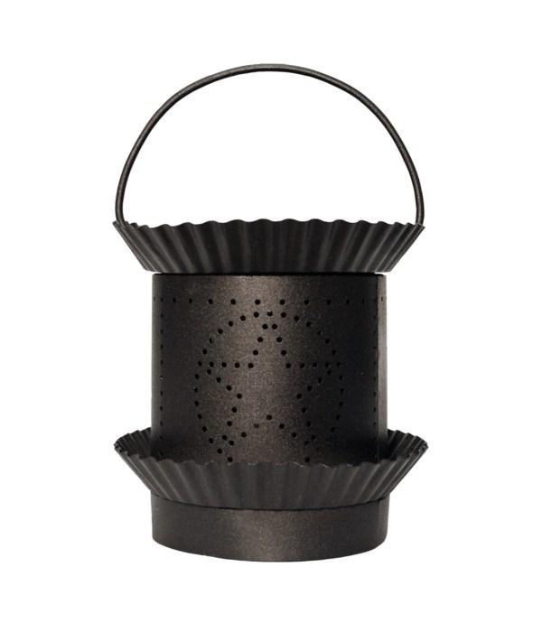 Star Pierced Tin Wax Warmer- Black