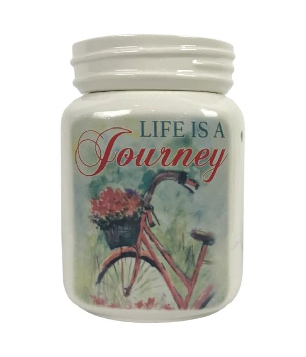 Life Is A Journey (Bike) Table Top Wax Warmer