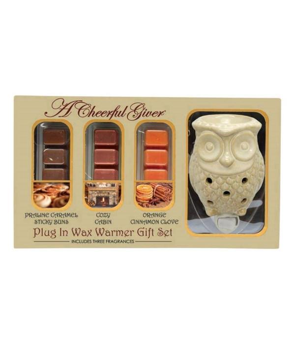 Owl Plug In Wax Warmer & Melts Gift Set