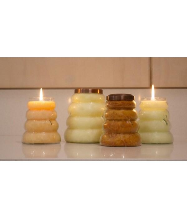 PRE PACK Large Beehive Candles 30oz Case Qty 12. Minimum of 2 per frangrance. Burn time 150hr.