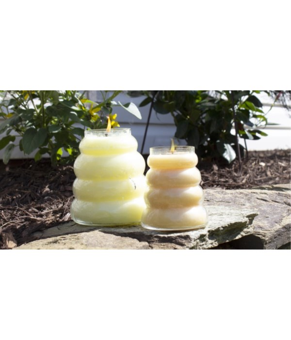 PRE PACK Baby Beehive Candles 14oz Case Qty 12 - Minimum of 2 per francrance. Burn time 70hr.