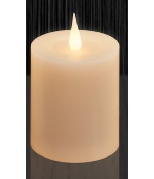 Ivory Globrite Candle 3.5 x 4 in.
