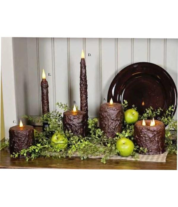 Chocolate Waxed Pillar 3 x 6 in.