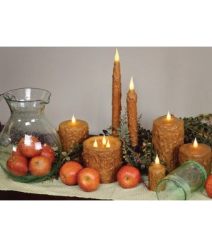 Brown Waxed Votive 1.5 x 3 in.