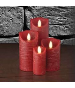 Red Distressed Semblance Candle 3 x 8 in.