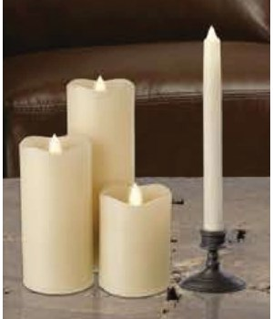 Ivory Serene  Taper Candle  9 in.