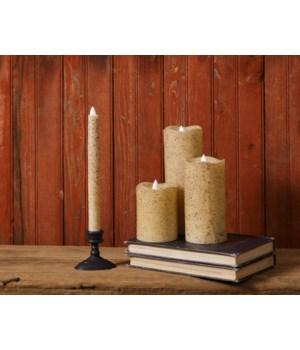 Rustic Serene  Taper Candle  9 in.