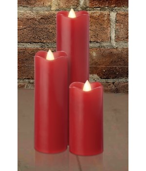 Red Slim Series Serene Candle 2 x 8 in.