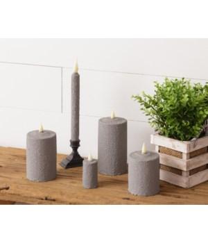 Gray Texture Pillar 3 x 5 in.