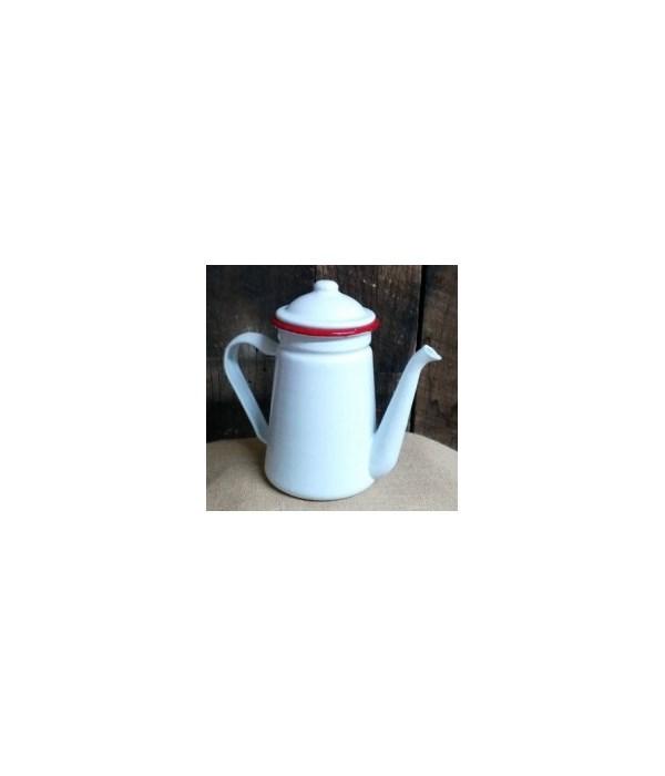 Rim Enamel Coffee Pot 7.5 in.