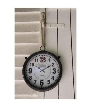 Farmhouse Antiques Clock 12 in.