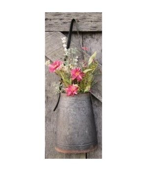 Metal Flower Holder w/Strap Lg