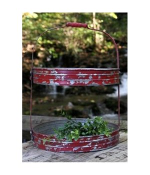 Red Dist Two Tier Tray