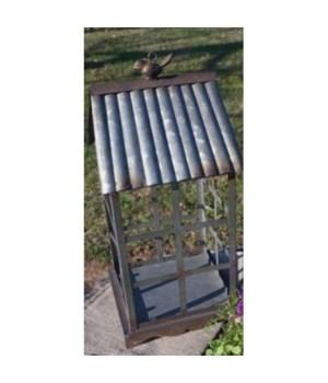 Metal Birdhouse Lantern Lg