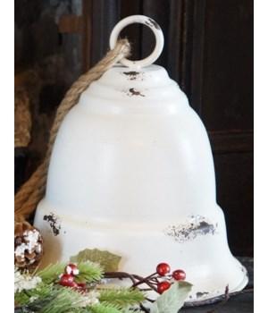Cream Distressed Bell Lg