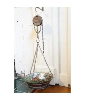 Blk Distress Hanger w/Pulley