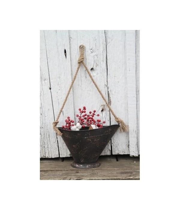 Hanging Metal Coal Bucket