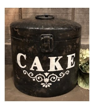 Metal Cake Canister 10 x 8 in.