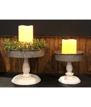 Cr. Distressed Candle Tray (2)