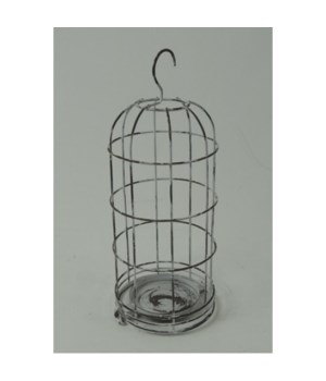 White Hanging Candle Cage
