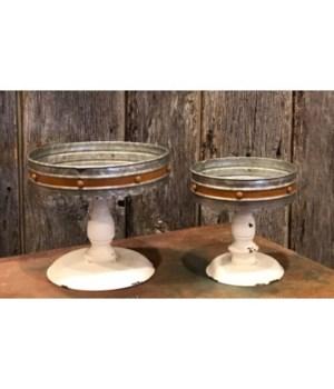 Orange Candle Pans (set of 2)