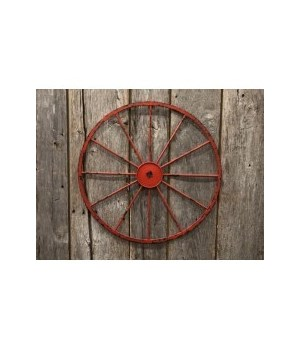 Red Wagon Wheel 16 in.